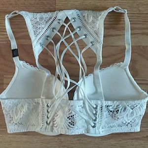 Victoria's Secret Intimates & Sleepwear - Nwt very sexy padded push up bra 32C white lace